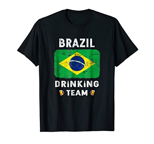 Brazil Drinking Team Country Alcohol Beer T Shirt