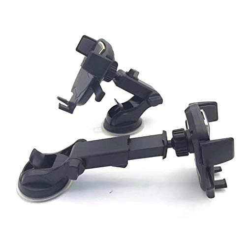 Silver Yukeio Easy One Touch Mounting Universal Phone Stand with Telescopic Arm Extend for Windshield or Dashboard