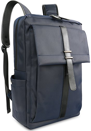 Galleon - Oflamn Slim Business Laptop Backpack Water Resistant Travel Bag  For 14-Inches Laptops (Blue) eb3a05825f84b