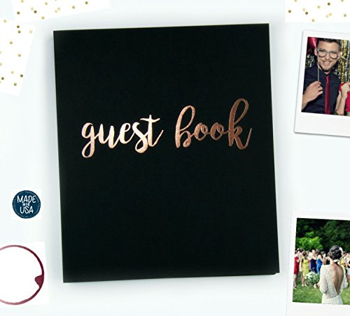 Modern Photo Guest Book, Softcover Flat-Lay Cardstock, Small 8.5