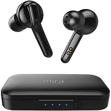 Mifa Auriculares Bluetooth, X3 Auriculares Inalámbricos Bluetooth V5.0 TWS Sonido Estéreo, Carga Rapida IPX5 Resistente al de Sudor y Salpicaduras con Caja de Carga para Android Samsung Huawei iPhone: Amazon.es: Electrónica