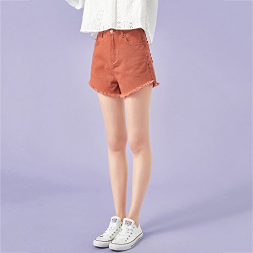 Color S Shorts pants FANG Hot multicolore Thin mi BUSINE QI en Macaron Coton d't Brown Femme Yellow long tudiant Pantalon denim Size qnTvxRBwv