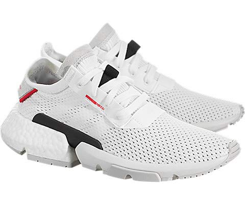 adidas Originals Kids Unisex POD-S3-1 J (Big Kid) White/Shock Red 7 M US Big Kid