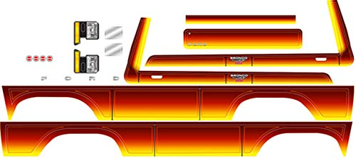 (Traxxas 8078 Ford Bronco Decal Sheet, Sunset)