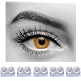 Diamond Eye One Day Contact Lenses Disposable Hazel Color Zero Power Pack Of 10