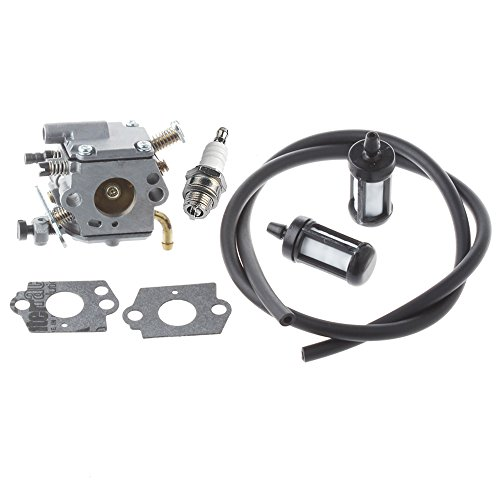 HIPA C1Q-S126B Carburetor with Spark Plug 2-Feet Fuel Line Filter for STIHL 020T MS200 MS200T Chainsaw (Stihl Ms200 Carburetor compare prices)