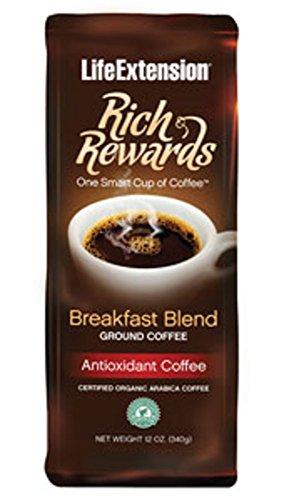 Rich Rewards Breakfast Blend Ground Coffee 12 Ounces