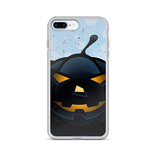 iPhone 7 Plus/8 Plus Pure Clear Case Cases Cover Halloween Pumpkin Pattern Dark]()