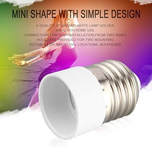 base dampoule portable Blanc Mat/ériau ignifuge E27 vers E14 Douille de lampe convertisseur durable pour la maison