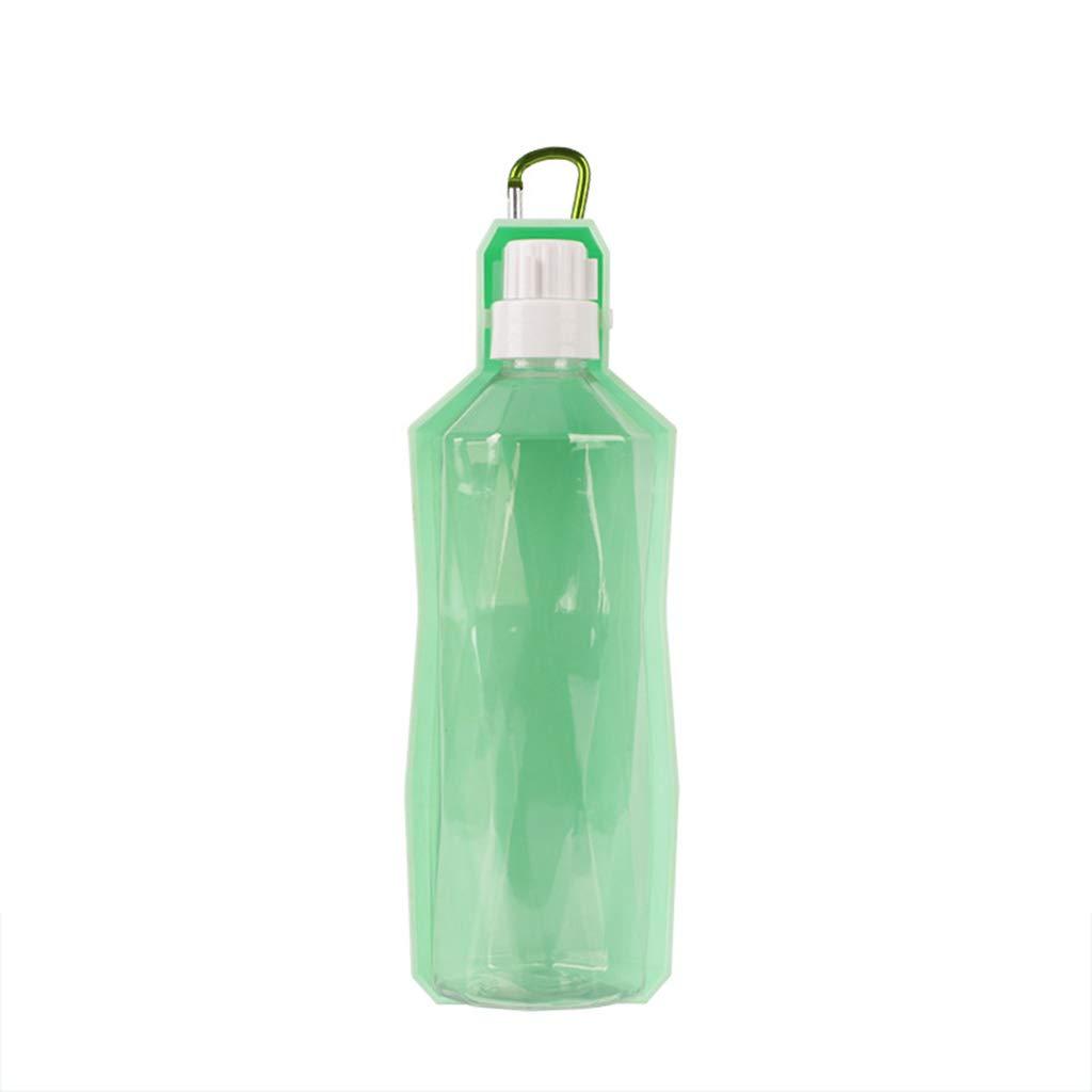 Pet Water Bottle Dog Out Drinking Water Bottle Leakproof Portable Water Dispenser Golden Retriever Travel Bottle Teddy Outdoor Water Cup,Green