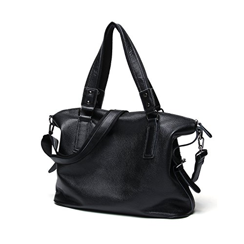 Bag Messenger Capacity Men's Black Shoulder Casual Men Handbag Leather High Genuine Bags qnztT76F