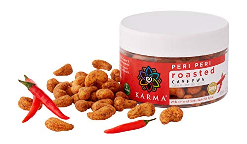 (KARMA Premium Roasted Whole Cashews, Peri Peri Chili Spice, 8 Ounce)