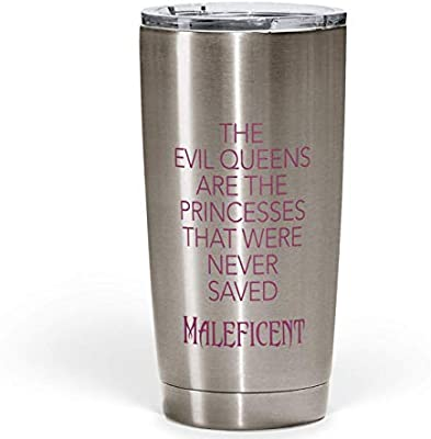 Gift For Her Maleficent Yeti Like Silver Travel Tumbler
