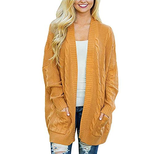 Sears Womens Hats - DongDong ❣Ladies Casual Cardigan, Winter Open Front Solid Long Sleeve Knitted Coat with Pockets