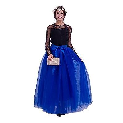 Maxi Long Tutu Tulle Skirt for Women Floor Length A Line Pleated Puffy Wedding Bridesmaid Skirts