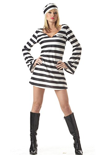 Genluna Jailbird Or Prisoner Costume X-Large Women (Female Prisoner Costume)
