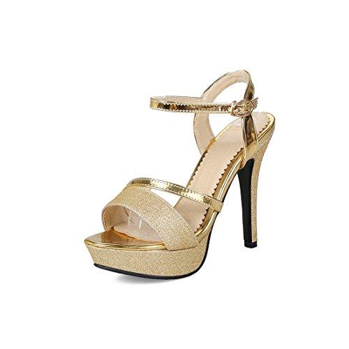 sexy tavola sandali sandali fibbie sandali i tacchi alti super i 39 a sandali i signore golden xFqtwBYB
