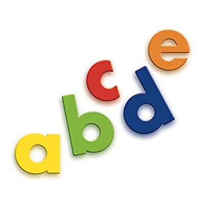 Quercetti Magnetic Lowercase Letters - 40 Piece Alphabet Magnet Set in Assorted Colors (Made in Italy): Toys & Games