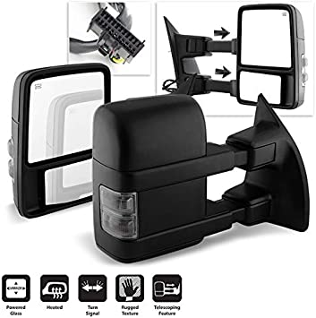 2008-2016 F250 F350 F450 F550 SuperDuty POWER+HEATED Towing Mirrors LED Signal