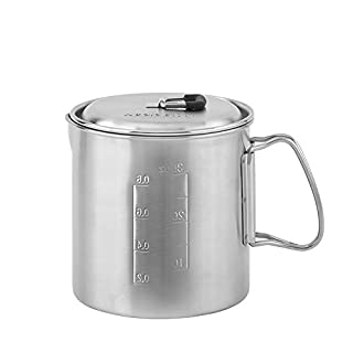 Solo Stove Solo Pot 900 - Lightweight Stainless Steel Backpacking Pot | Boil Water Quickly | Volume Markings and Pour Spout (B008W0DRNM) | Amazon price tracker / tracking, Amazon price history charts, Amazon price watches, Amazon price drop alerts