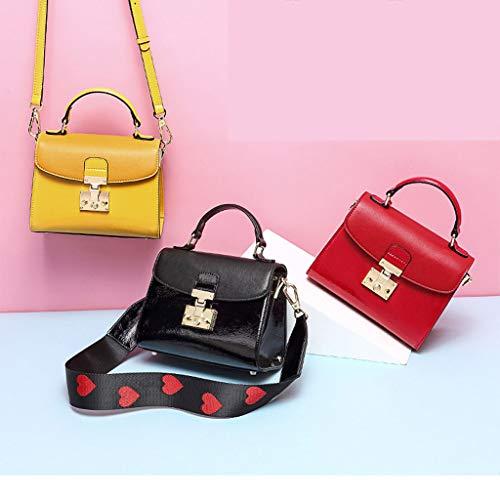 Ansuu À Le Sac Bandoulière Bag Jaune Simple Main Casual Lady 7x7F1