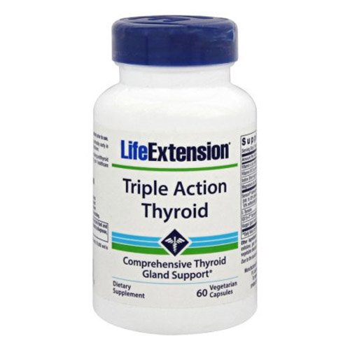 Life Extension Triple Action Thyroid Capsules, 60 Count by Life Extension