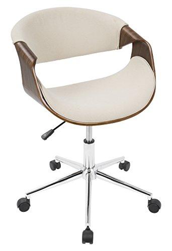 WOYBR OFC WL+CR Wood, Polyester Fabric, Foam, Chrome Curvo Office Chair