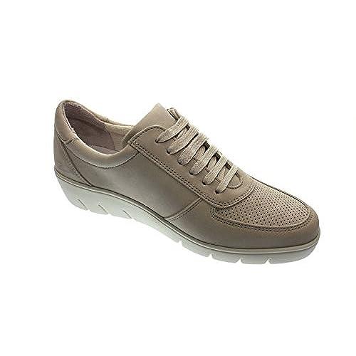 8bac19a144f De alta calidad LONGO Mujeres Zapatos Planos Taupe Beige