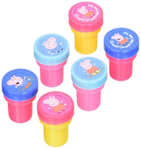 Amscan Peppa Pig Birthday Party Stamper Set favor (Pack Of 6), Multicolor, 1