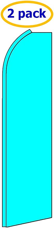 Solid Cyan King Swooper Flag w//Kit Pack of 2