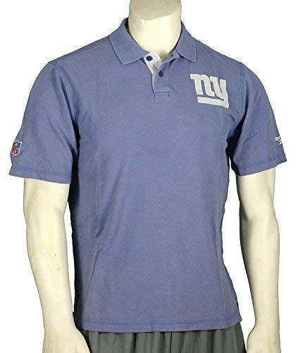 Reebok New York Giants NFL Mens Vintage Polo Shirt, Antique Blue (Small)