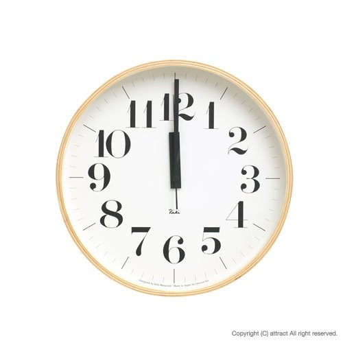 Lemnos レムノス Riki Clock リキ クロック Sサイズ WR-0401S 太字 壁掛け時計 掛時計 時計 ウォールクロック デザイン:渡辺 力 (インテリア デザイン 雑貨) B00D05EXIW Sサイズ Sサイズ