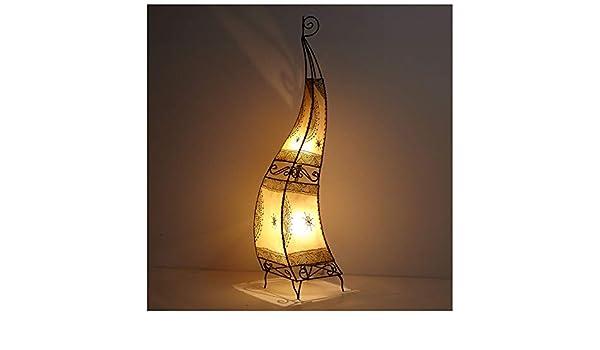 Marrakesch Henna lámpara marroquí piel lámpara pintadas a ...