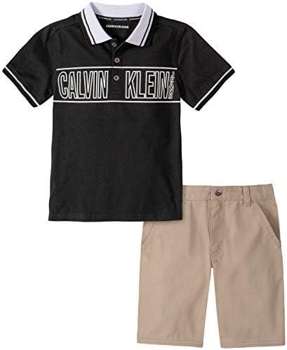 Calvin Klein Boys` 2 Pieces Polo Shorts Set
