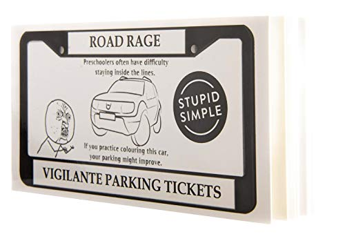 Vigilante Justice Novelty Joke Parking Tickets Road Rage Made Funny This Funny Parking Ticket Will Let Bad Drivers Know Exactly What Society Thinks of Them 10 Different Designs (50 - Tickets Parking Bad