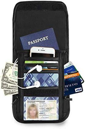 ストライプ 格子縞 パスポートホルダー セキュリティケース パスポートケース スキミング防止 首下げ トラベルポーチ ネックホルダー 貴重品入れ カードバッグ スマホ 多機能収納ポケット 防水 軽量 海外旅行 出張 ビジネス
