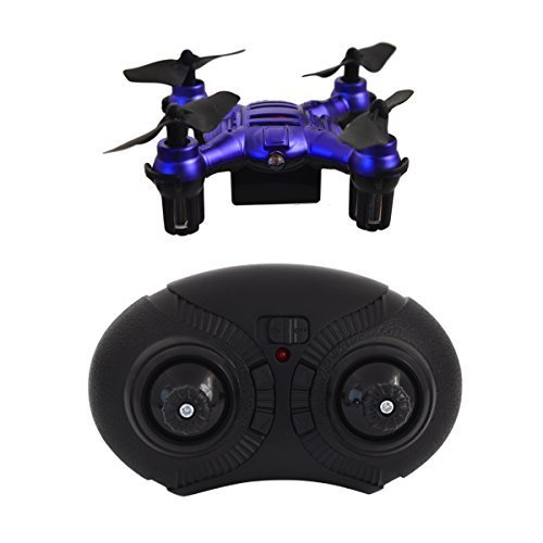 Hover-Way 6 Axis 2.4 GHZ Aerial Micro Drone with Built In Battery- Pocket Size Blue by Hover-Way