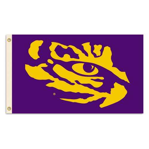 NCAA LSU Tigers 3 x 5-Feet Flag with Grommets