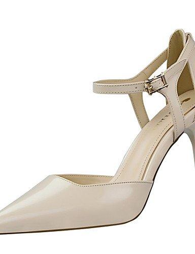 GGX/ Damen-High Heels-Lässig / Party & Festivität / Kleid-Kunstleder-Stöckelabsatz-Absätze / Spitzschuh / Sandalen-Schwarz / Rot / Weiß / gray-us8 / eu39 / uk6 / cn39