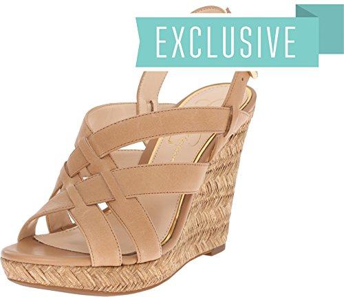 Jessica Simpson Women's Jaime Buff Ruby Tumbled Sandal 10 M - Jessica Simpson Slingback Shoes