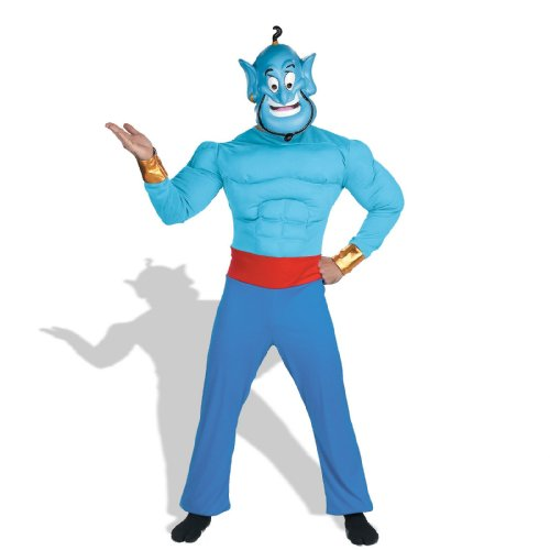 Aladdin - Genie Adult Muscle Chest Costume (Men Disney Costumes)