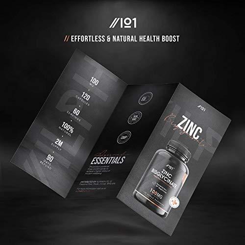 Zinc-Bisglycinate-Capsules-100mg-1000-Daily-NRV-Elemental-Zinc-30Zn-Bisglycinate-120-Vegan-Capsules-No-Additives–Non-GMO-Gluten-Free-1-Pack