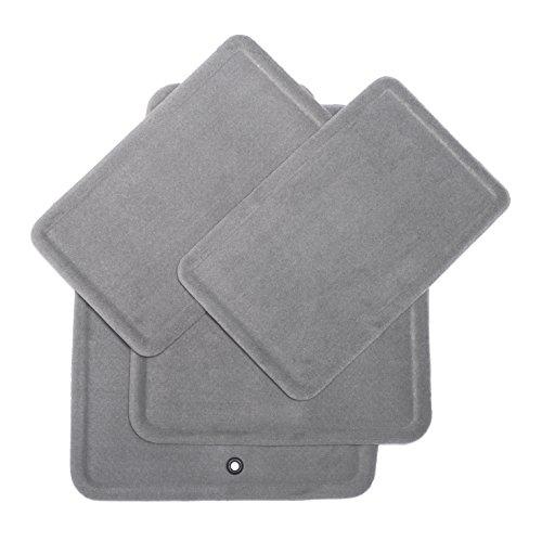 GM Accessories 15237888 Medium Titanium Carpet Front and Rear Floor Mat Set with Non-Slip Backing