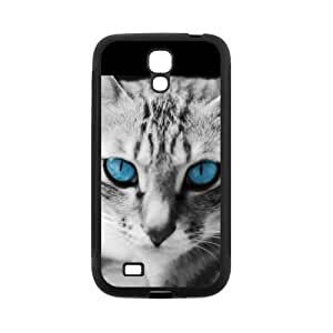 Animal Series Cute Cat Design Hot Black Case For Samsung GALAXY S4 mini With Best Rubber By All My Dreams by mcsharks