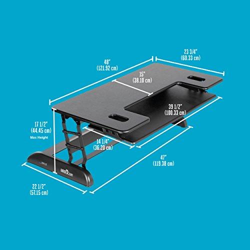 Varidesk Height Adjustable Standing Desk For Cubicles
