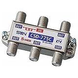 サン電子 5分配器 1端子電流通過型 10~2610MHz 屋内用 CSD-775C