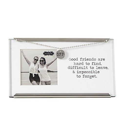 Mud Pie Glass Friend Clip Frame, 2.5 x 2.5'' by Mud Pie