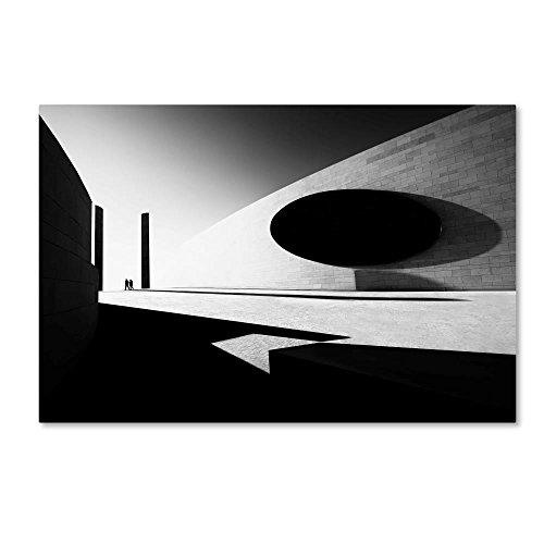 Bandw Harmony by Florentinus Joseph, 30x47-Inch Canvas Wall Art - Ellipse Path Light