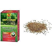 Compo FLORANID Abono césped con herbicida. Larga duración de hasta 3 meses, para 100 m², 3 kg + Semillas Batlle de…
