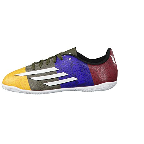 adidas Zapatilla Jr F5 IN Messi Solar gold-Earth green multicolor